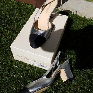 Ivanka Trump Silver Multi Leather Shoes